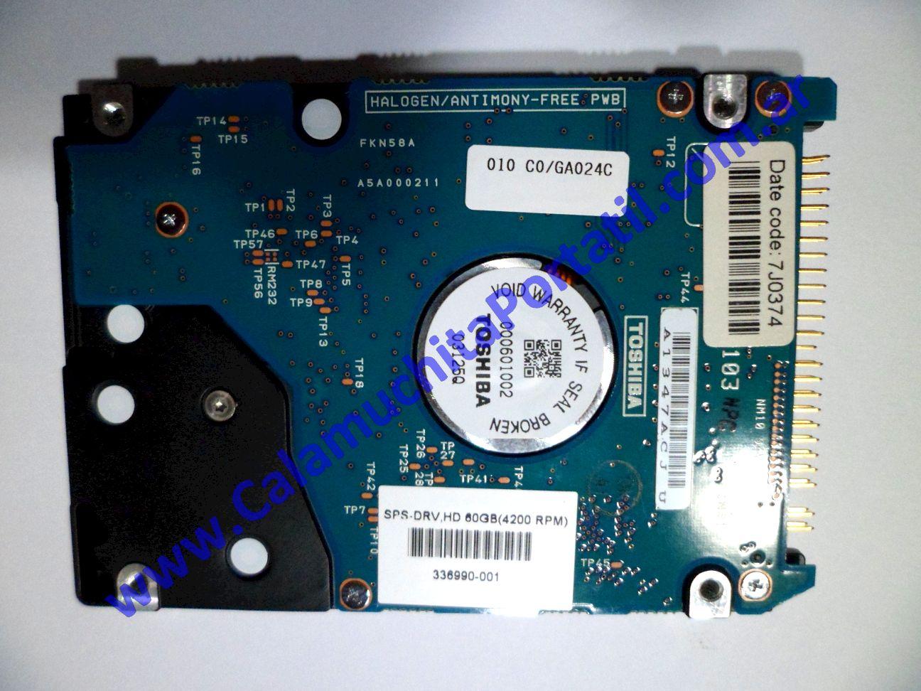 0002HDA Disco Rígido Compaq Presario X1000