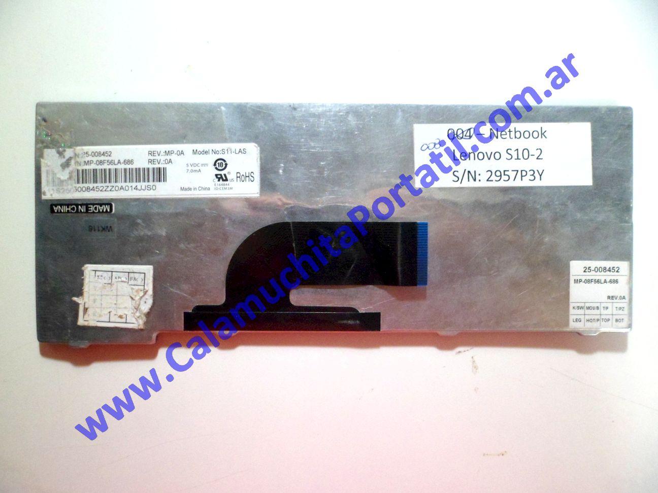 0008KBA Teclado Lenovo S10-2