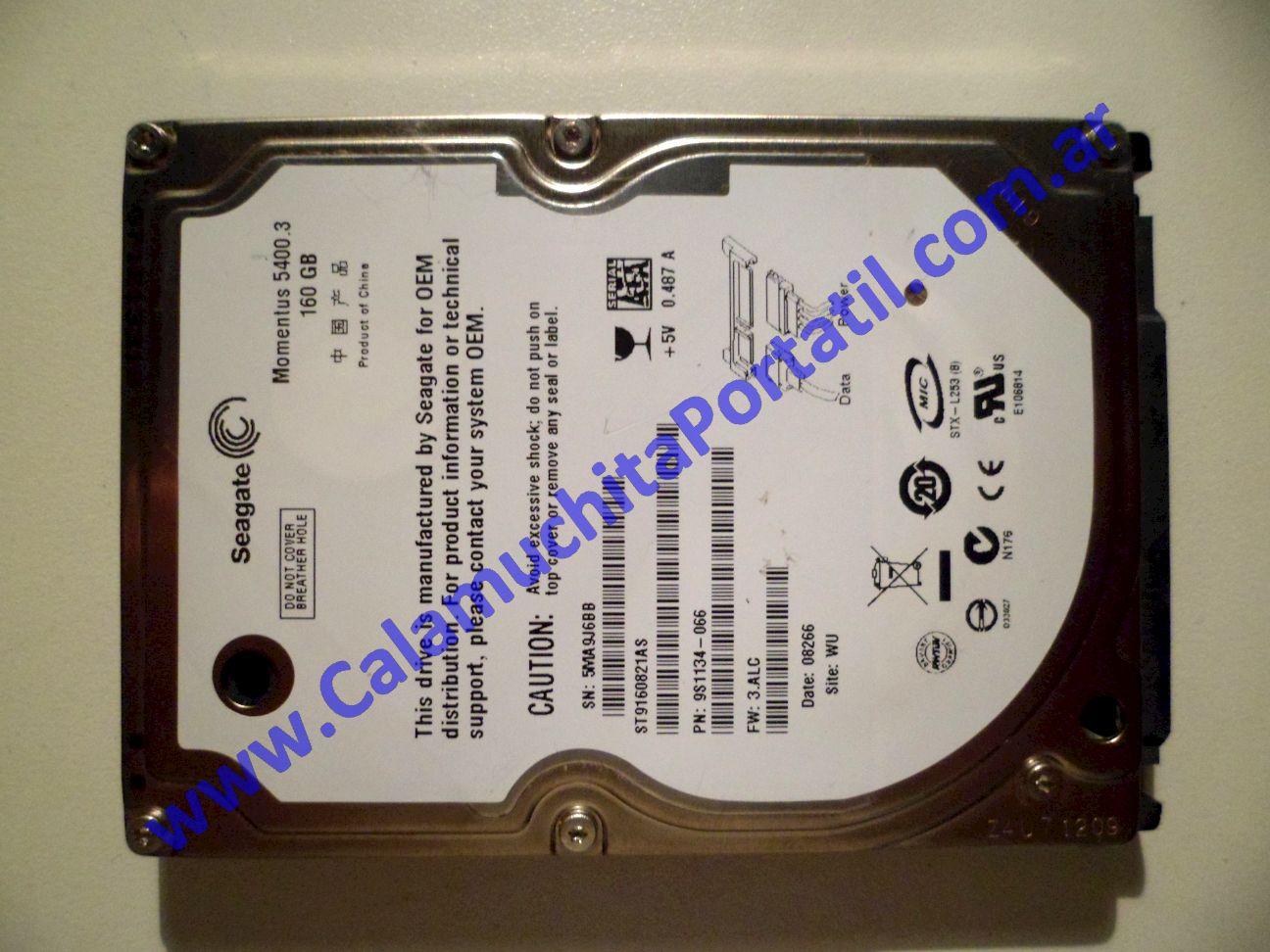 0010HDA Disco Rígido Packard Bell ALP-Ajax A