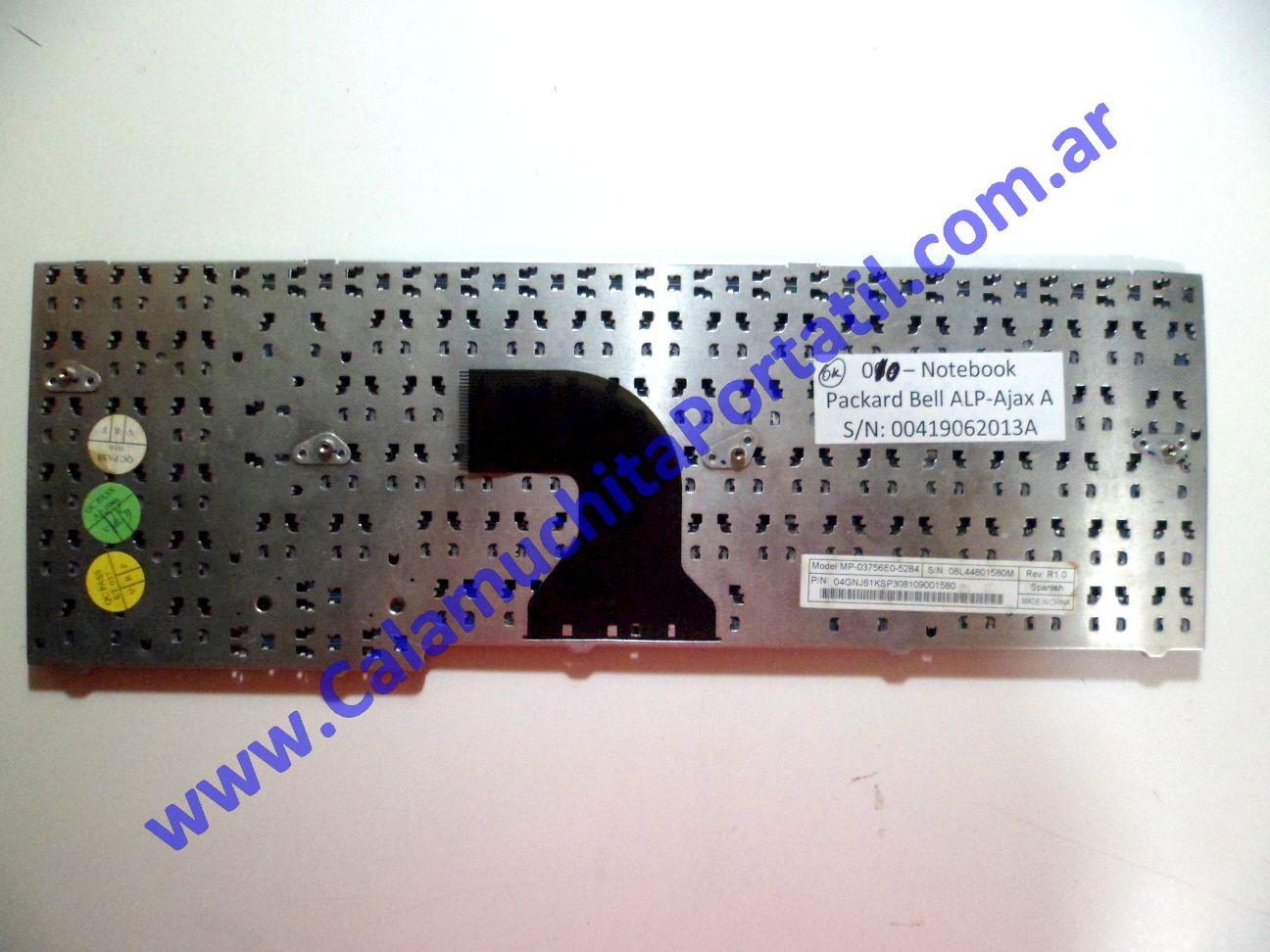 0010KBA Teclado Packard Bell ALP-Ajax A