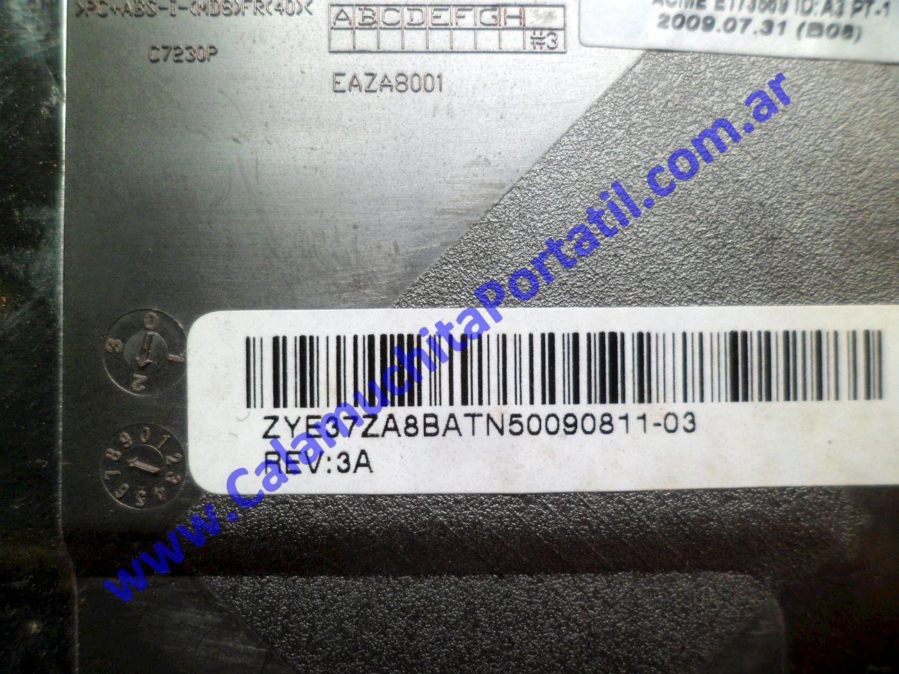 0011CAD Carcasa Base Packard Bell Dot-M-A / ZA8
