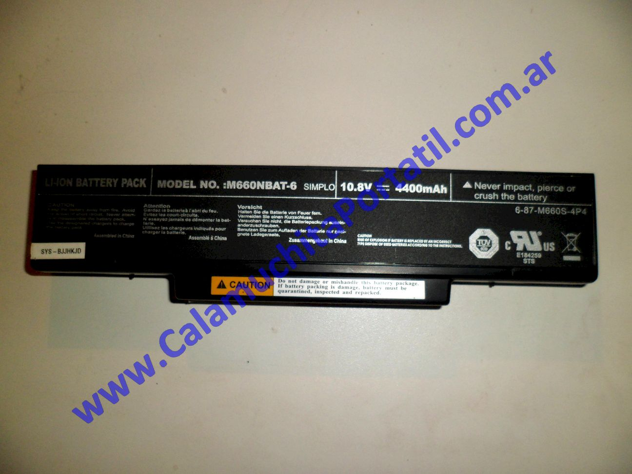 0012BAA Batería Banghó M66SRU