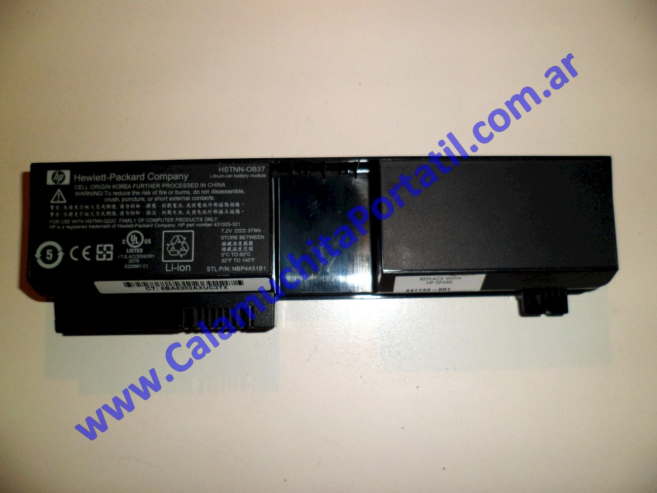 0014BAA Batería Hewlett Packard Pavilion TX1000 / TX1030la