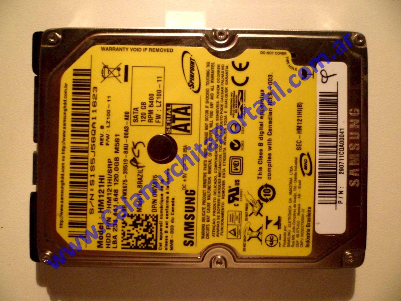0019HDA Disco Rígido Dell Inspiron 1525