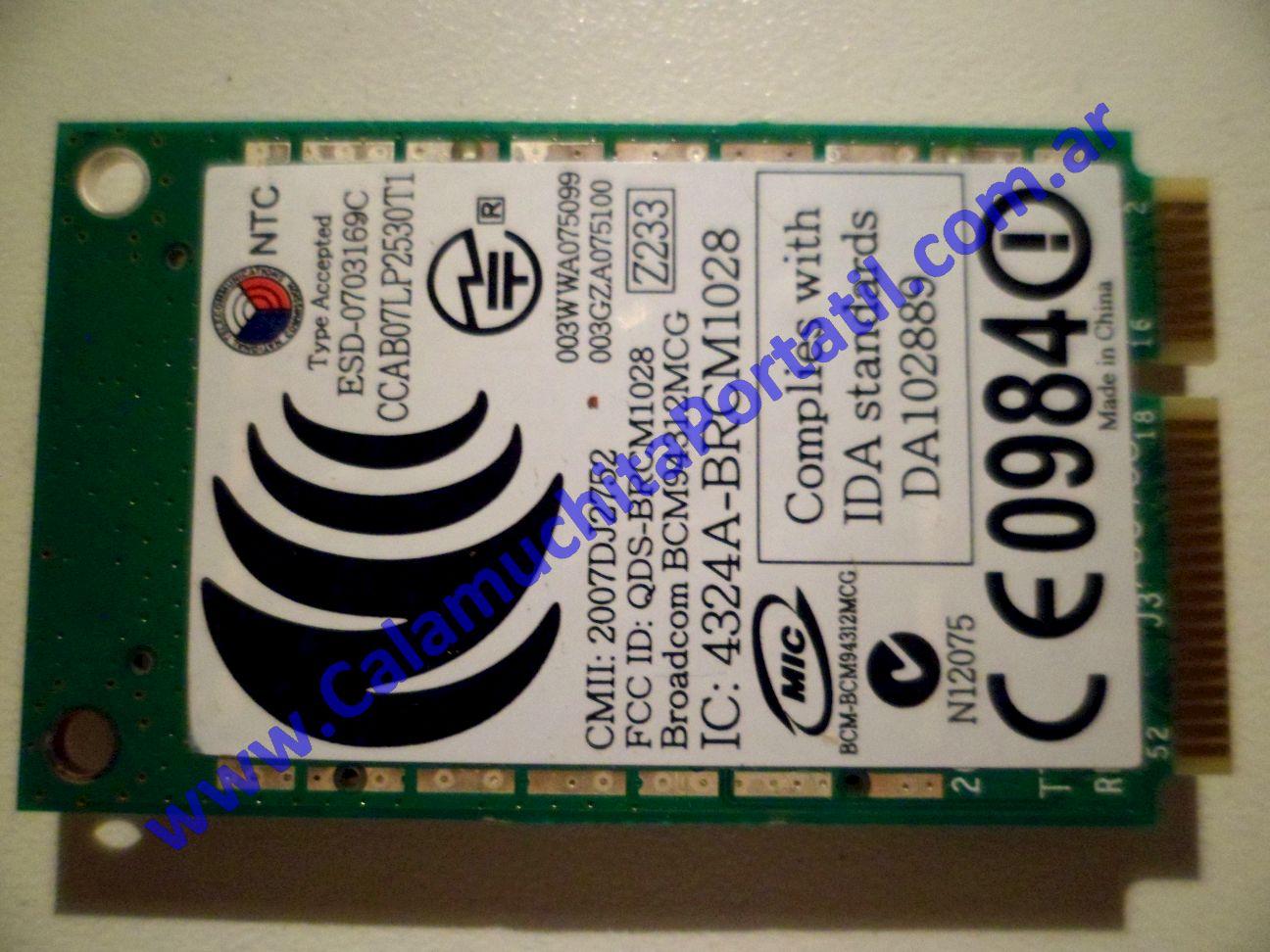 0019PWI Placa Wifi Dell Inspiron 1525