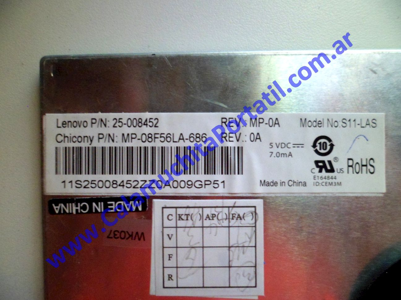 0022KBA Teclado Lenovo S10-3c