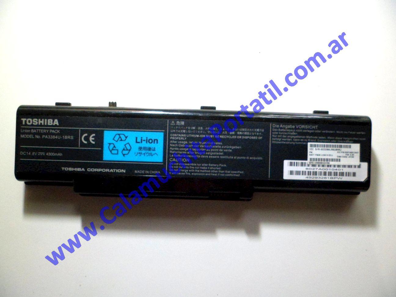 0023BAA Batería Toshiba Satellite A60-SP159