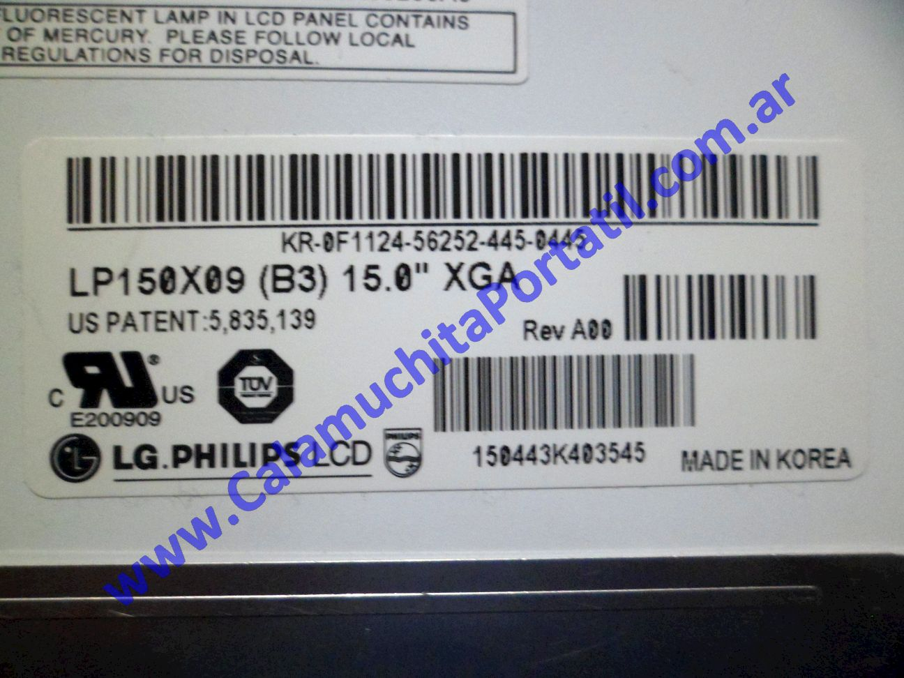 0025DIA Display Dell Inspiron 5150