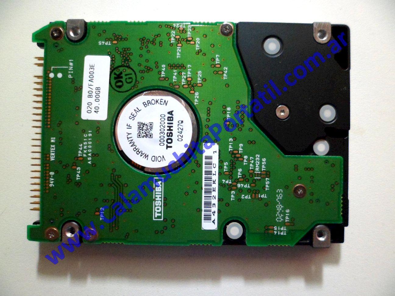 0026HDA Disco Rígido Toshiba Satellite Pro M15-S405