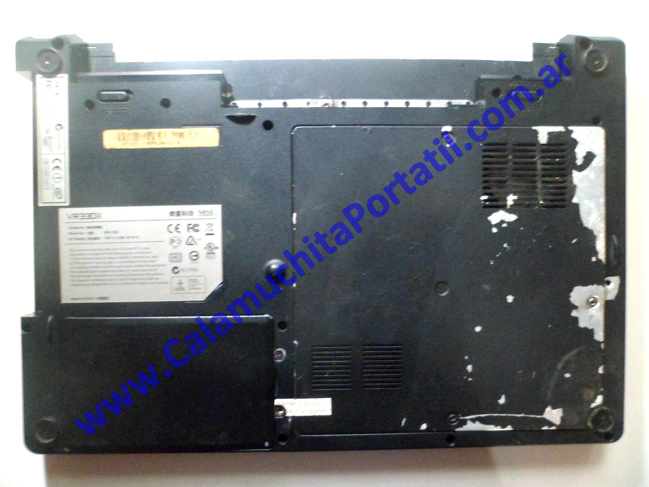 0037CAD Carcasa Base MSI VR330X / MS-1336