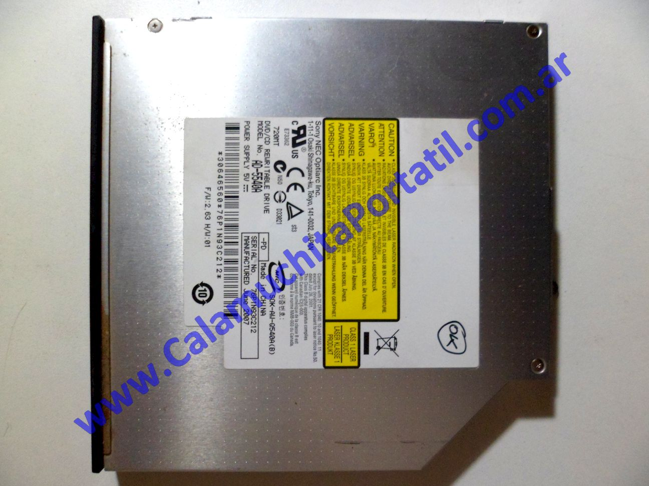 0051OPT Optico Packard Bell ALP-Ajax A