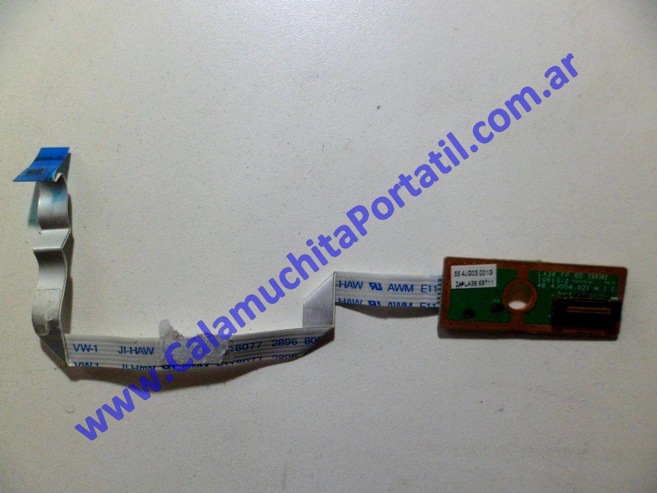0071PFP Placa FingerPrint Lenovo Ideapad V360 / 0911