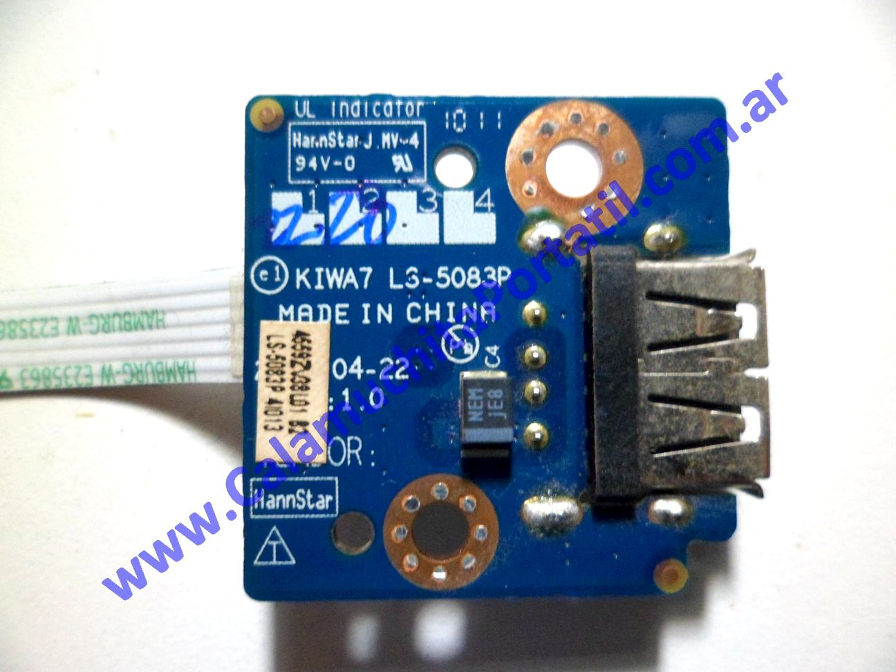 0077PUS Placa USB Lenovo G555 / 0873