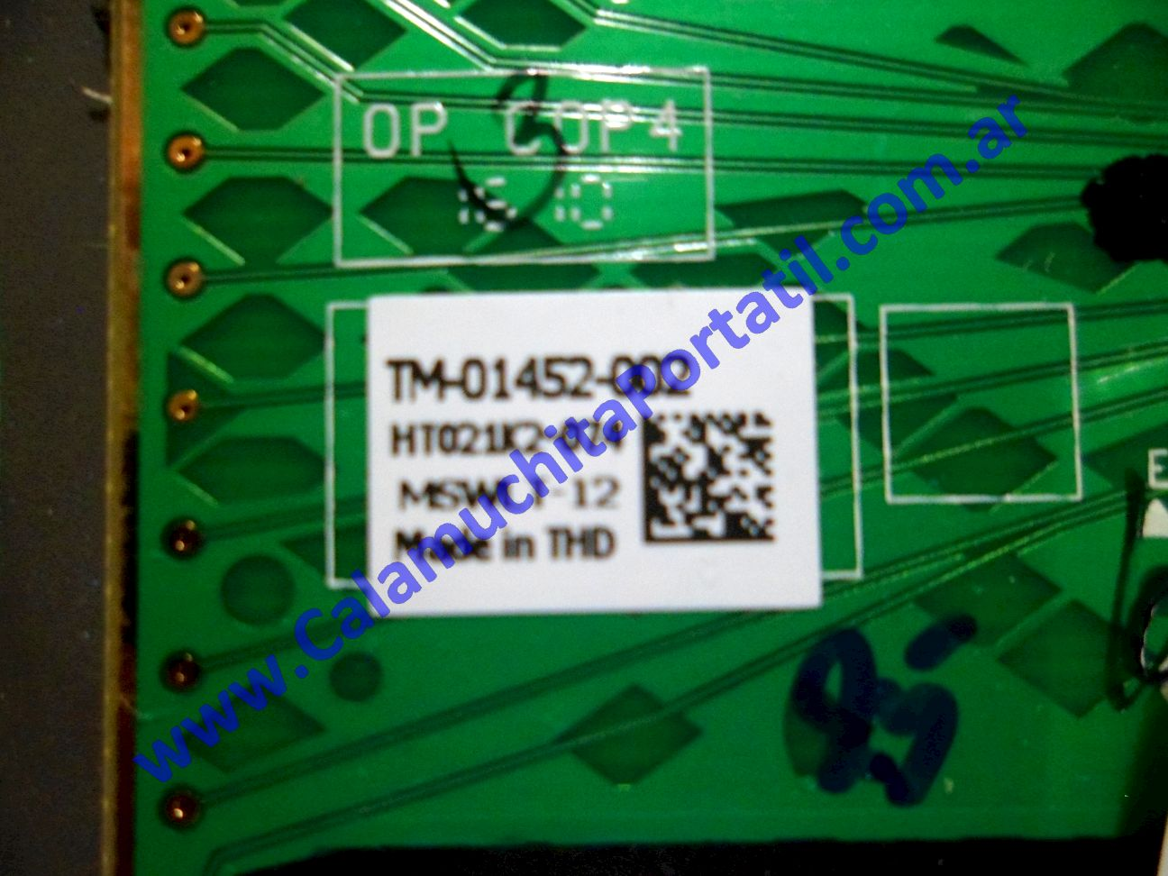 0119CTO Carcasas Touchpad Hewlett Packard HP 425 / XD057LA#AC8