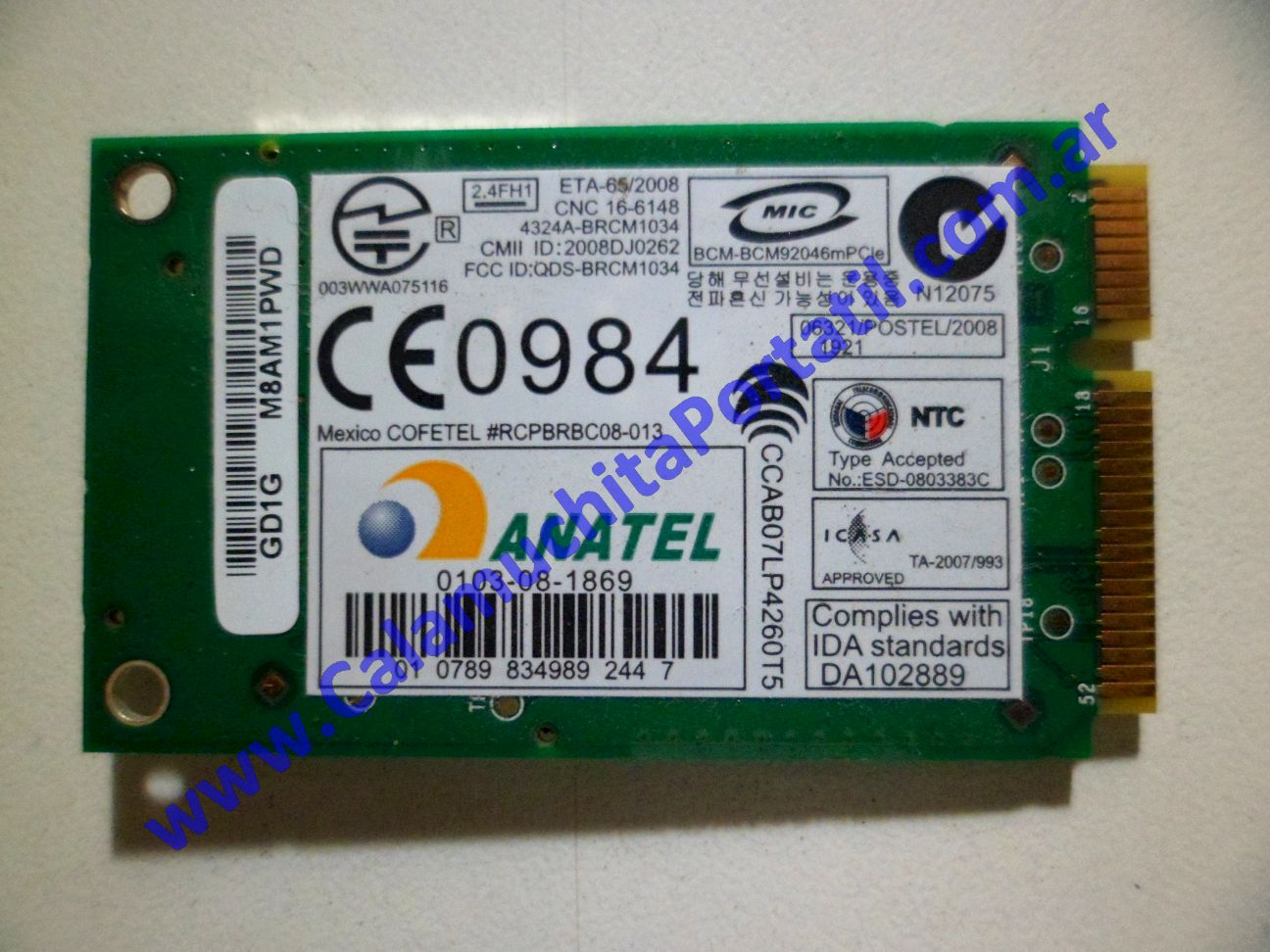 0127PBL Placa Bluetooth Dell Studio 1535 / PP33L