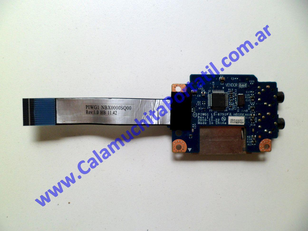 0175PCR Placa CardReader Lenovo G470 / 20078