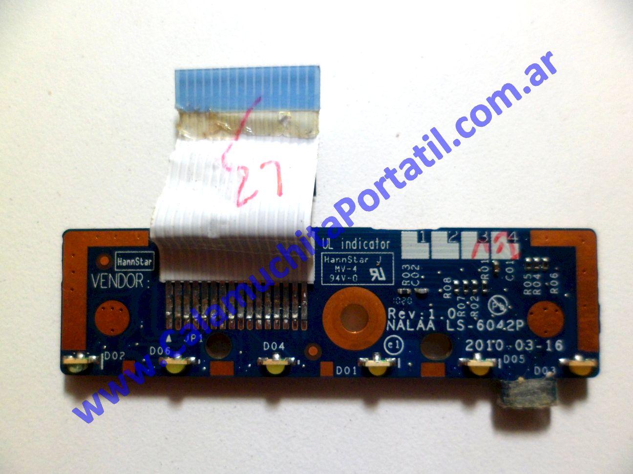 0199PLE Placa Leds Toshiba Satellite L675D-S7016 / PSK3JU