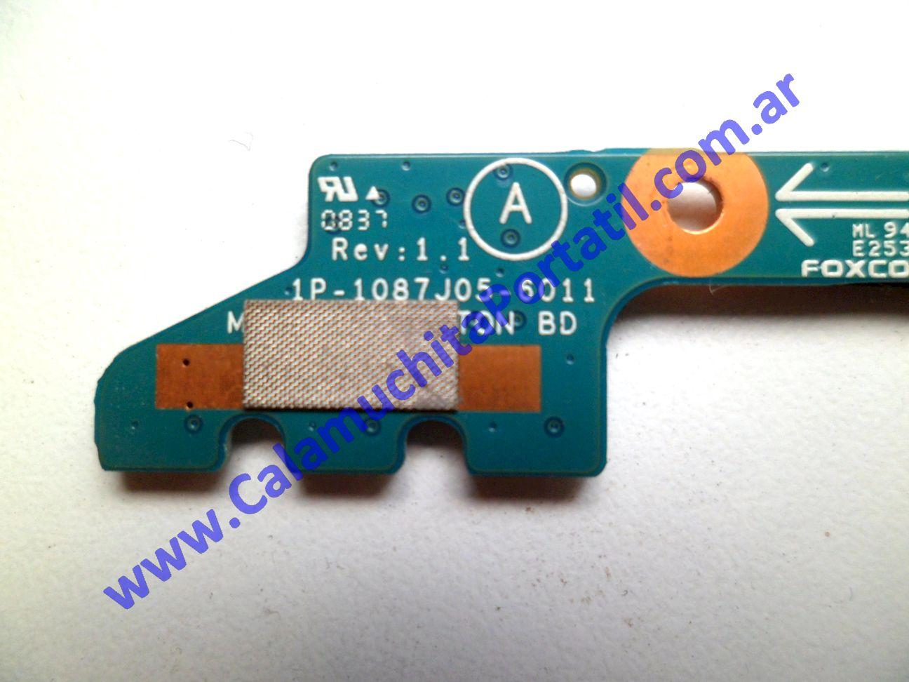 0302PAU Placa Auxiliar Sony Vaio VGN-SR250J / PCG-5P4L
