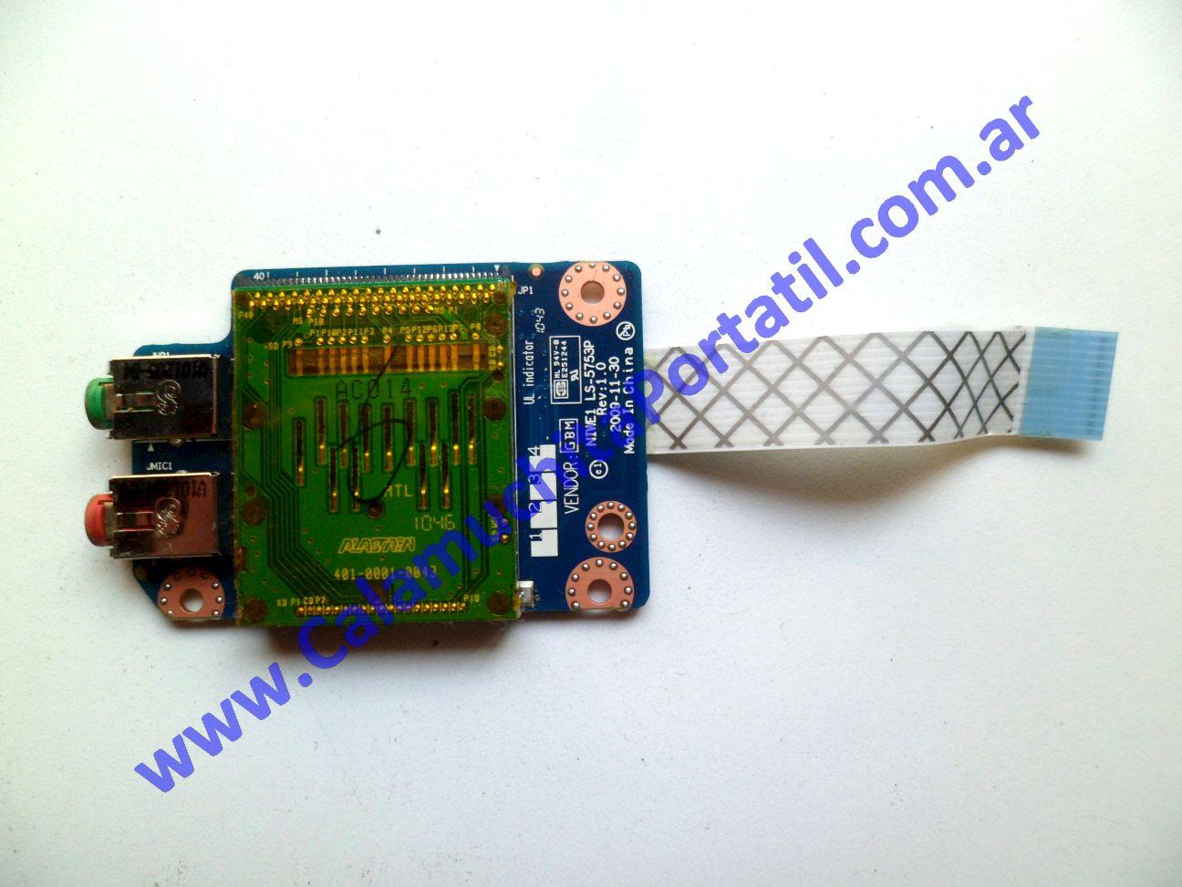 0314PCR Placa CardReader Lenovo G465 / 4382