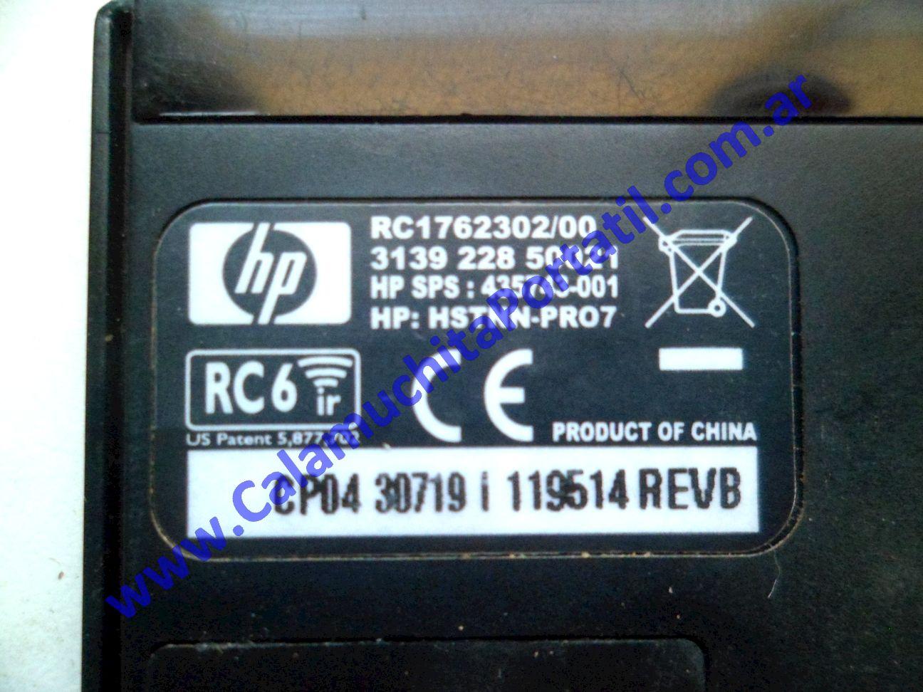 0482ACR Control Remoto Hewlett Packard Pavilion dv9500 / GA341UA#ABA