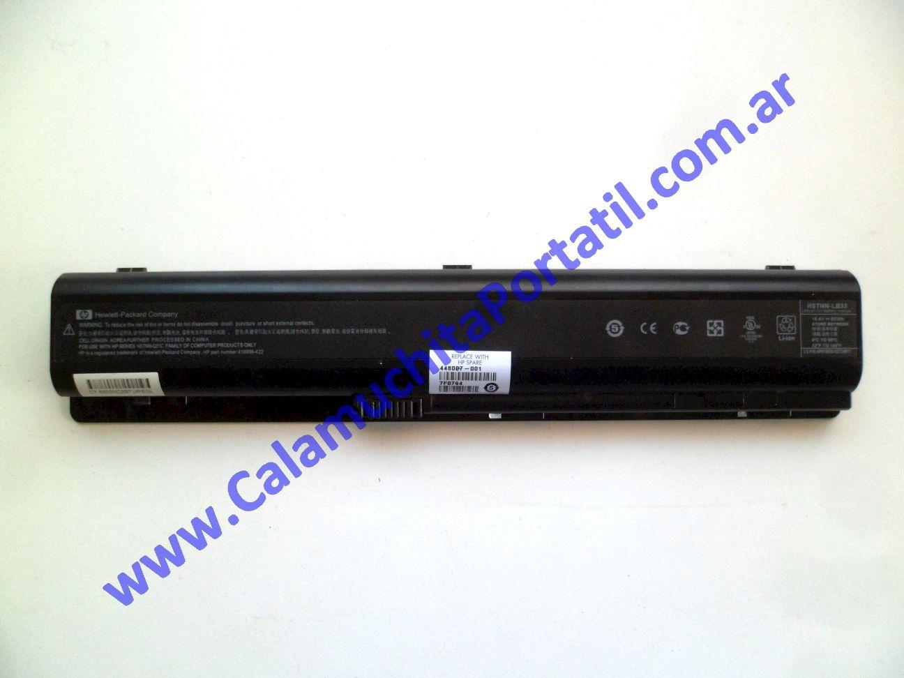 0482BAA Batería Hewlett Packard Pavilion dv9500 / GA341UA#ABA