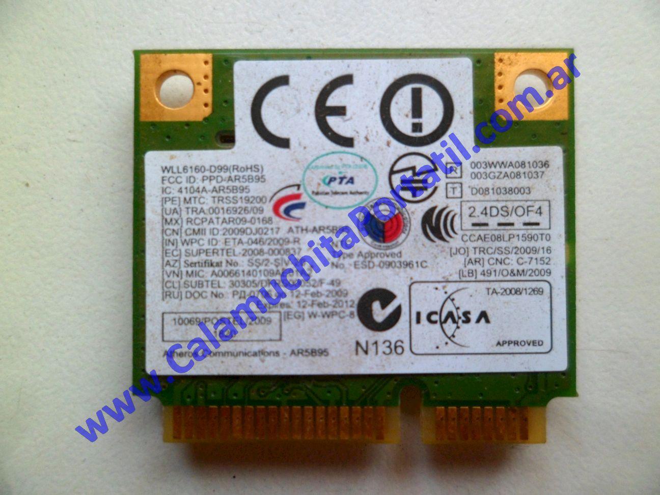 0485PWI Placa Wifi Samsung R430 / NP-R430-JA04AR