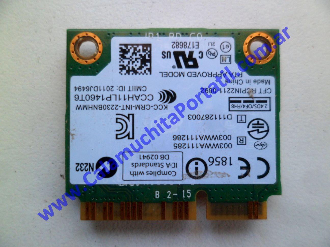 0487PWI Placa Wifi Exo X300V i5-3317U
