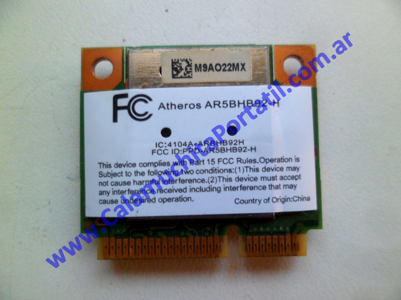 0494PWI Placa Wifi Hewlett Packard Pavillion dv7-3063cl / VM243UA#ABA