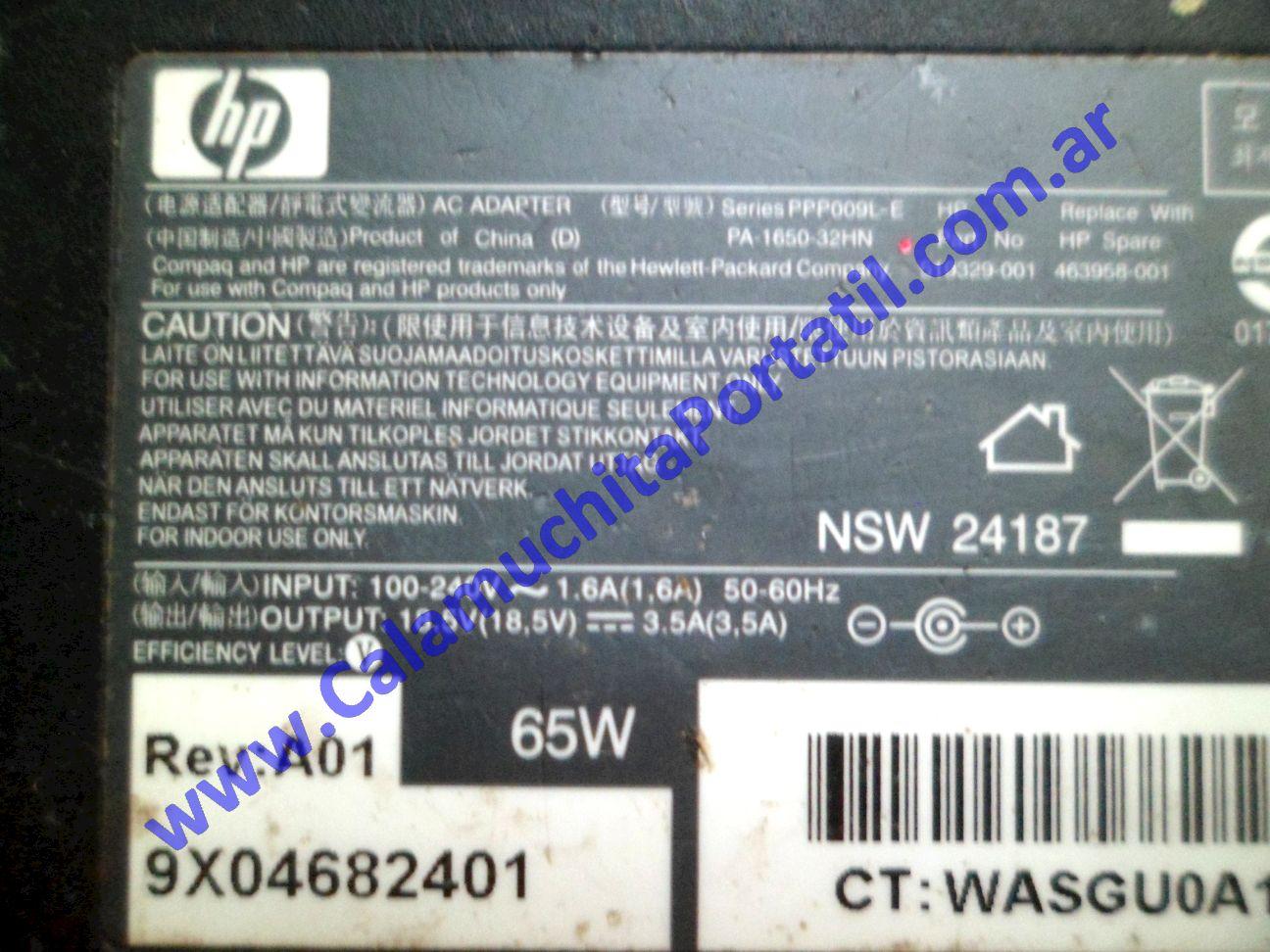 0494RCA Cargador Hewlett Packard Pavillion dv7-3063cl / VM243UA#ABA