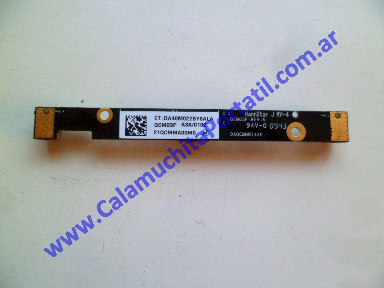 0494WEB Webcam Hewlett Packard Pavillion dv7-3063cl / VM243UA#ABA
