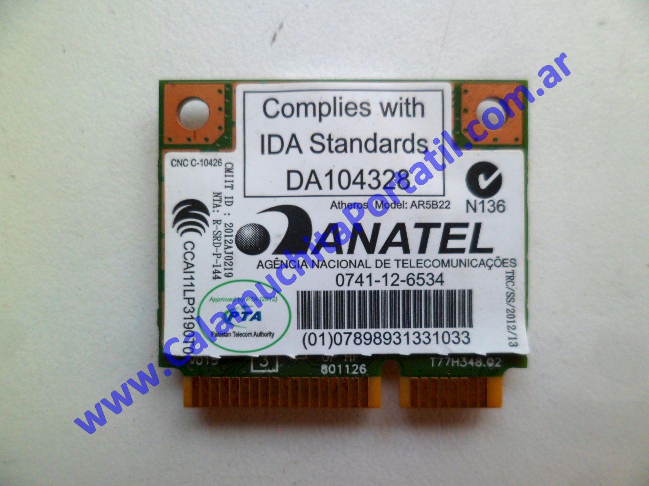 0497PWI Placa Wifi Acer Aspire V3-551-8469