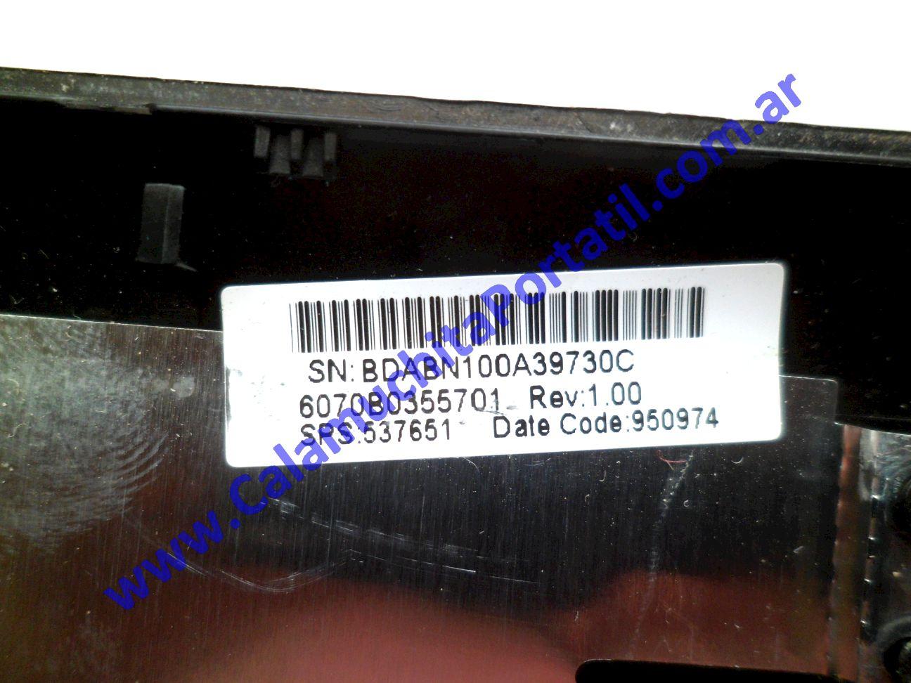 0502CAA Carcasa Tapa Hewlett Packard Mini 110-1000 / VA715UA#ABA