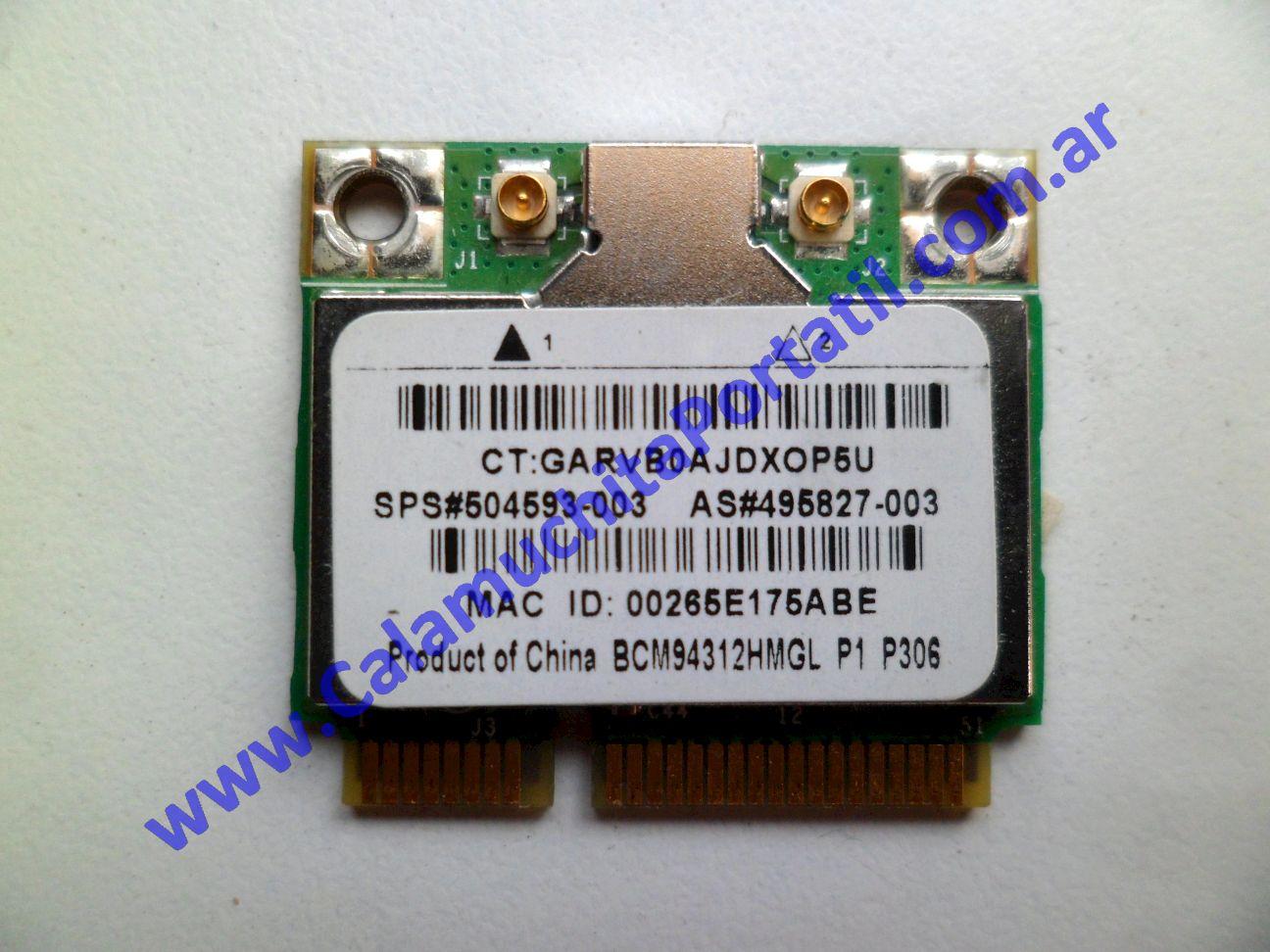 0502PWI Placa Wifi Hewlett Packard Mini 110-1000 / VA715UA#ABA