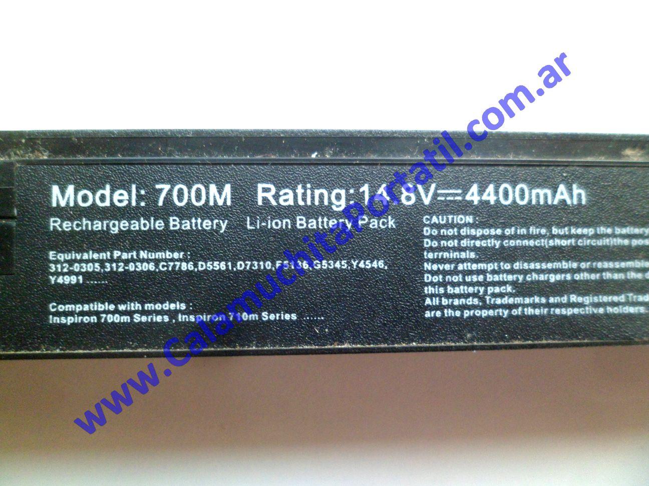 0504BAA Batería Dell Inspiron 700m / PP07S