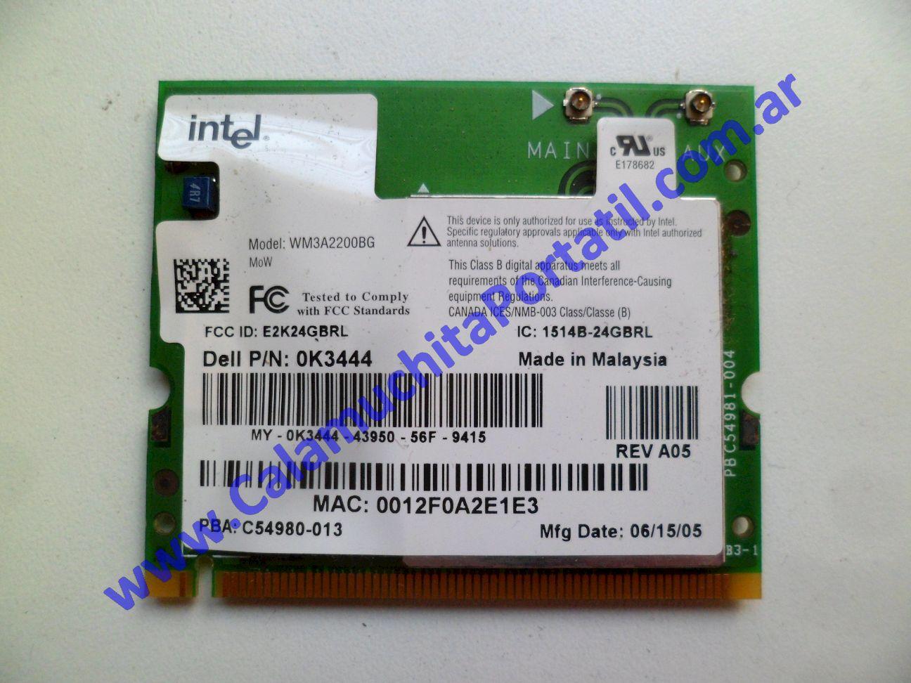 0504PWI Placa Wifi Dell Inspiron 700m / PP07S