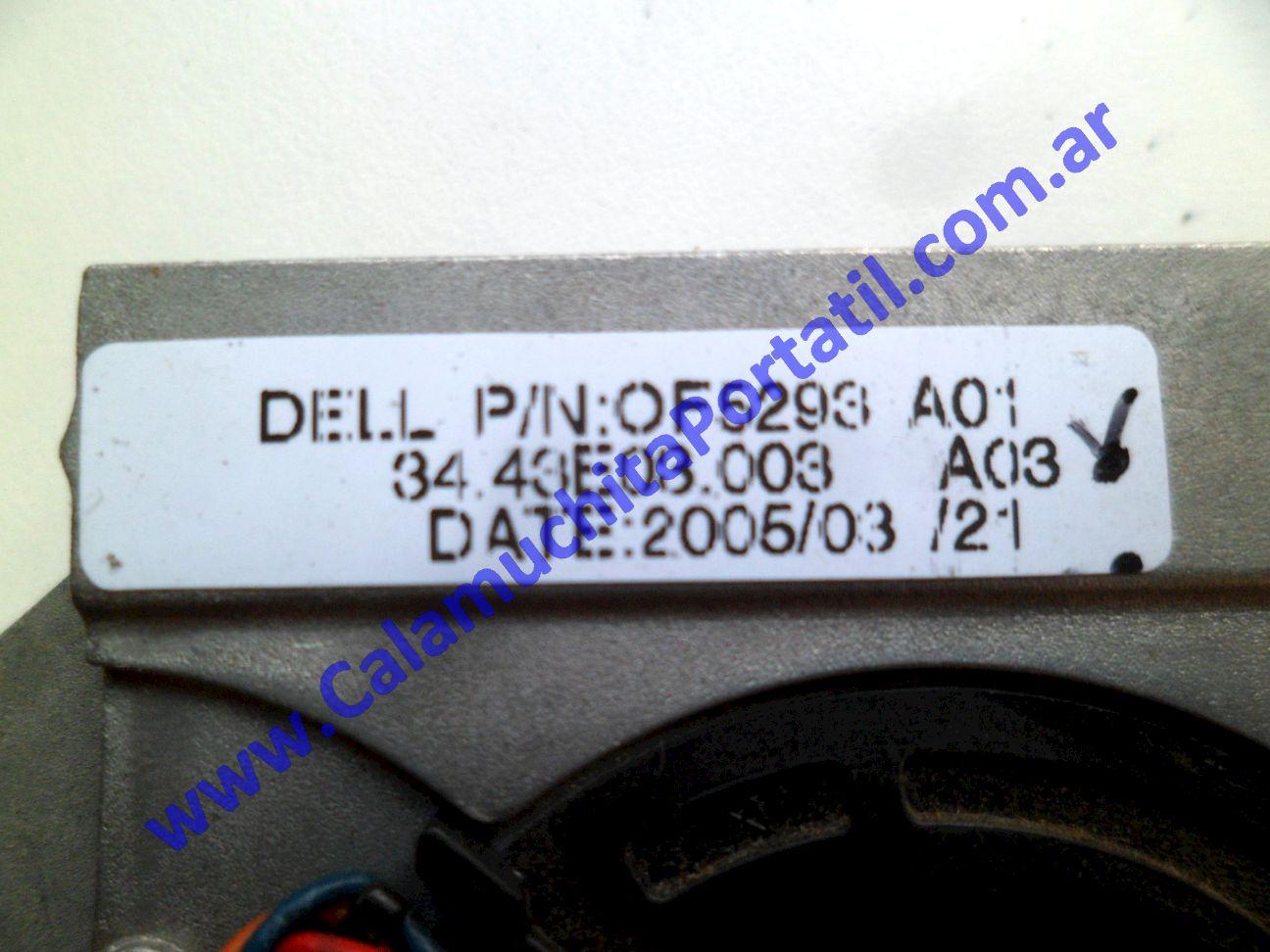 0504VDA Cooler C/Disipador Dell Inspiron 700m / PP07S