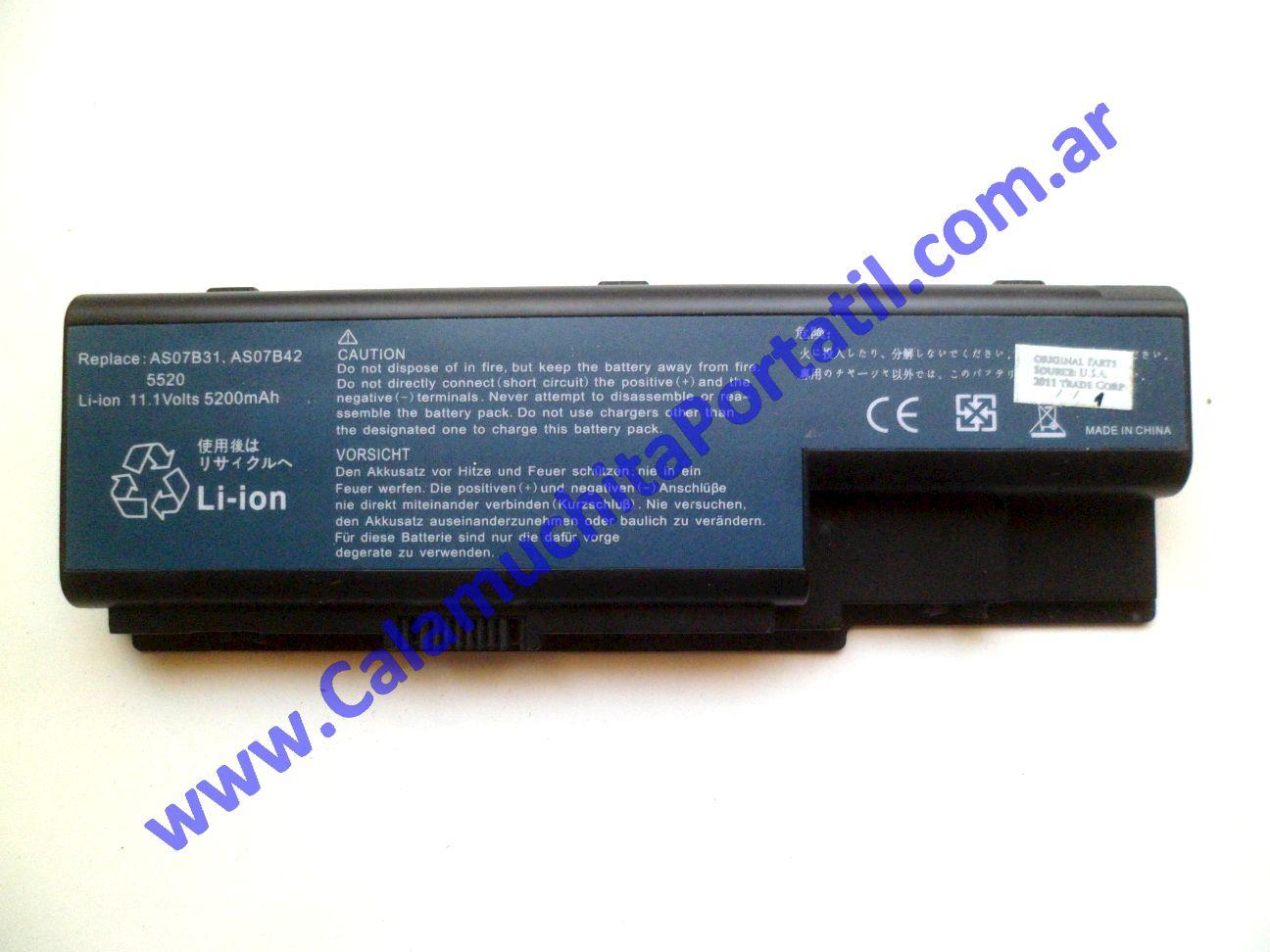 0527BAA Batería Acer Aspire 5720z / ICL50