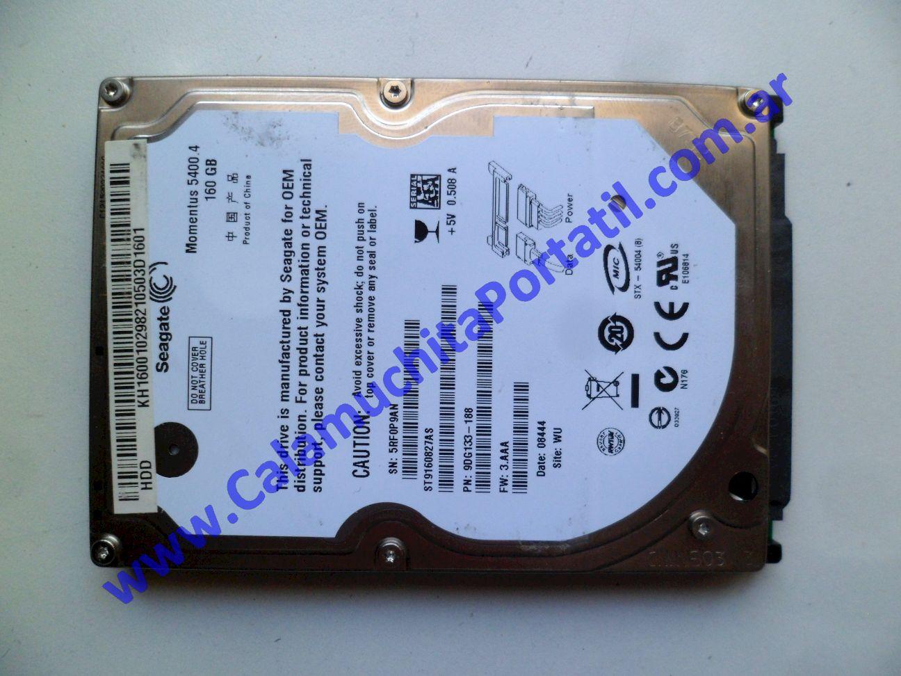 0527HDA Disco Rígido Acer Aspire 5720z / ICL50