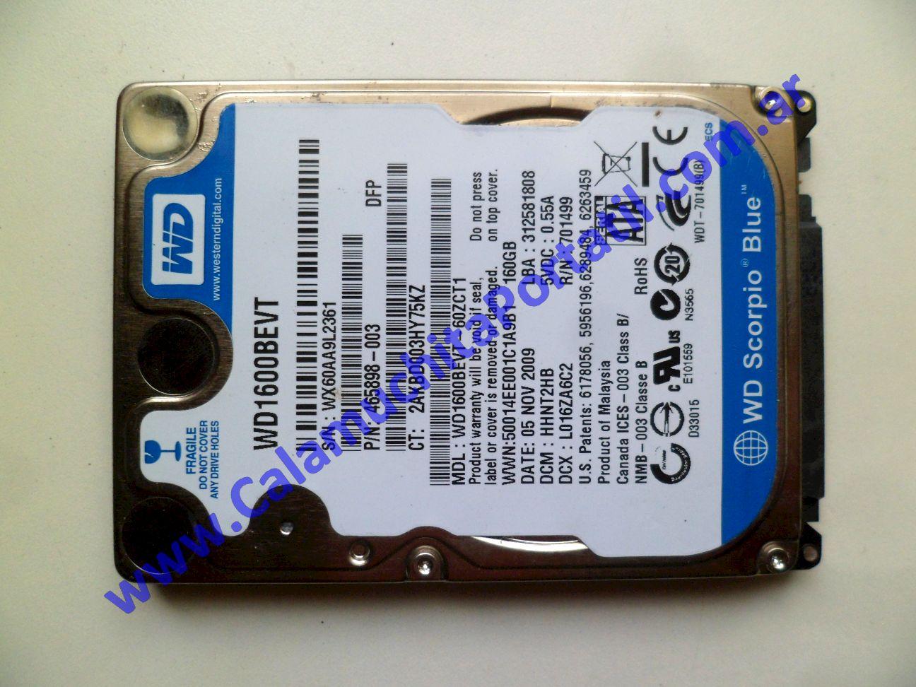 0529HDA Disco Rígido Hewlett Packard Mini 110-1150LA / VU376LA#ABM