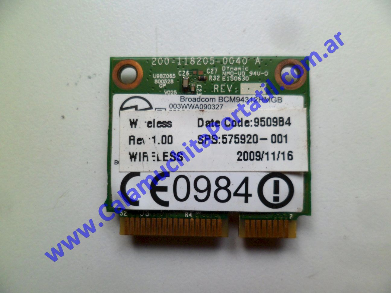 0529PWI Placa Wifi Hewlett Packard Mini 110-1150LA / VU376LA#ABM