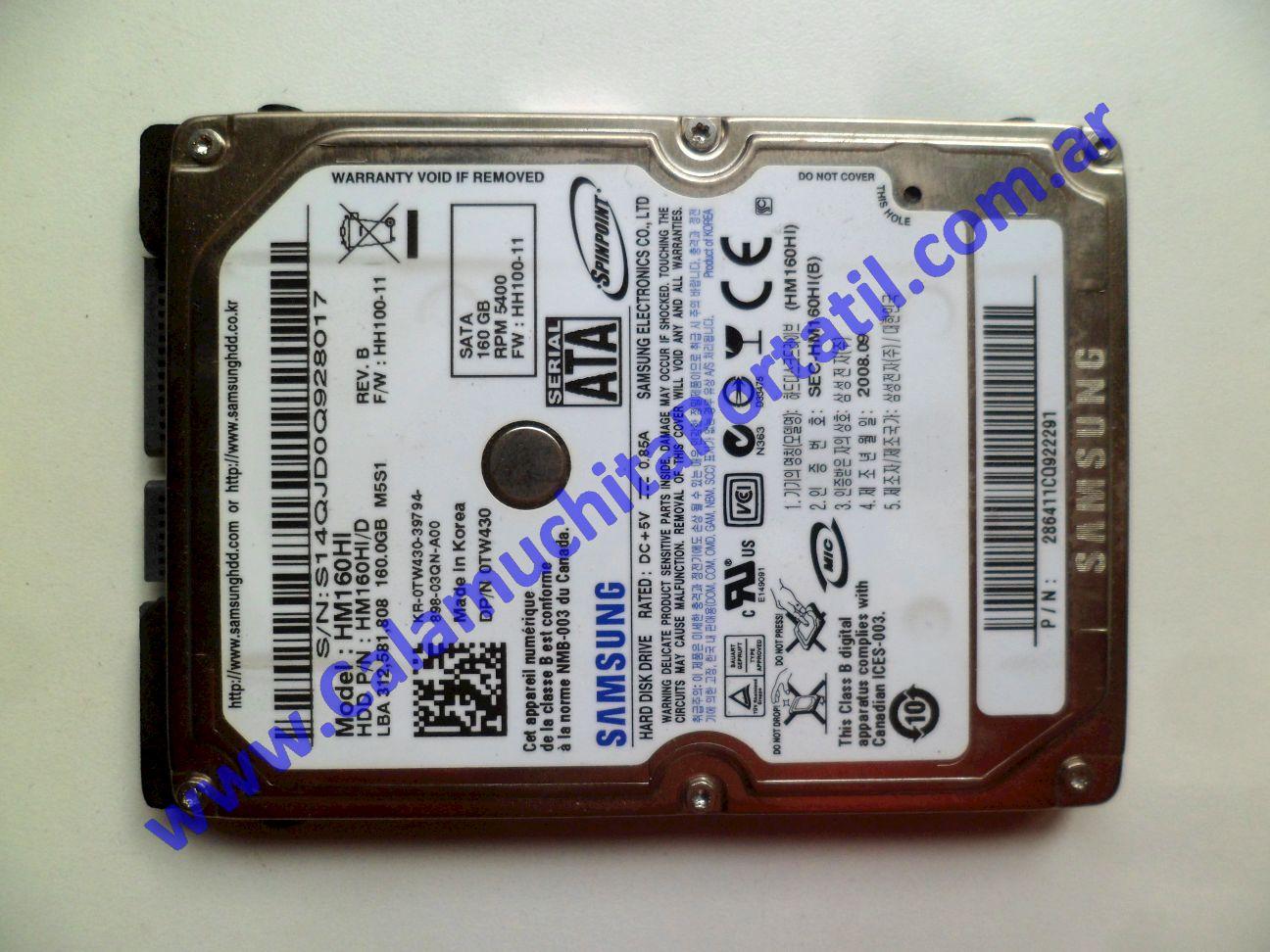 0532HDA Disco Rígido Dell Inspiron 1525 / PP29L