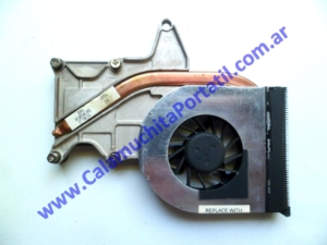 0533VDA Cooler C/Disipador Hewlett Packard Pavillion dv2000 / DV2425la / GM691LA#AC8