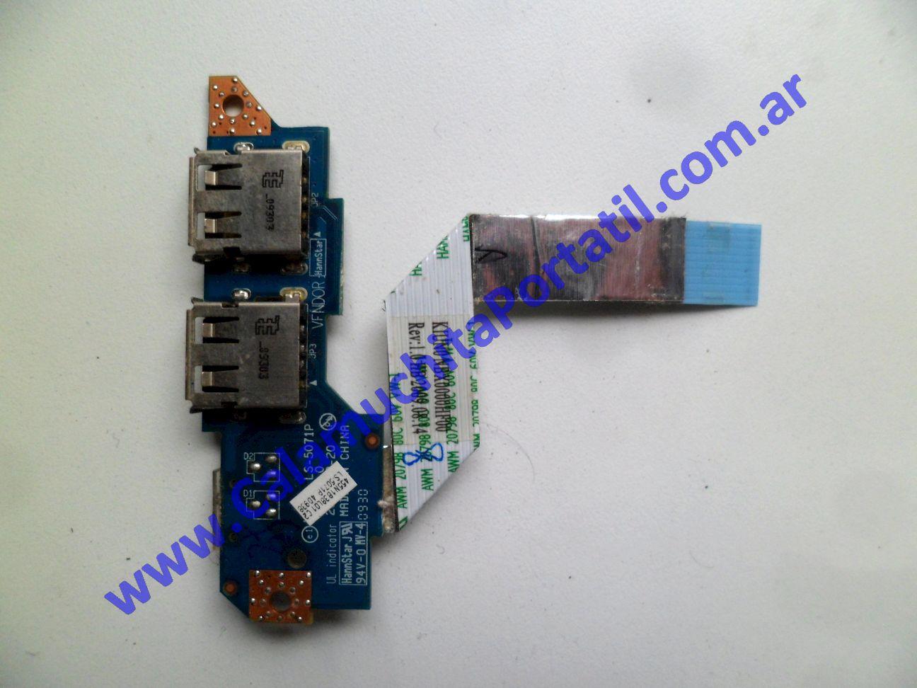 0534PUS Placa USB Lenovo IdeaPad S10-2 / 2957