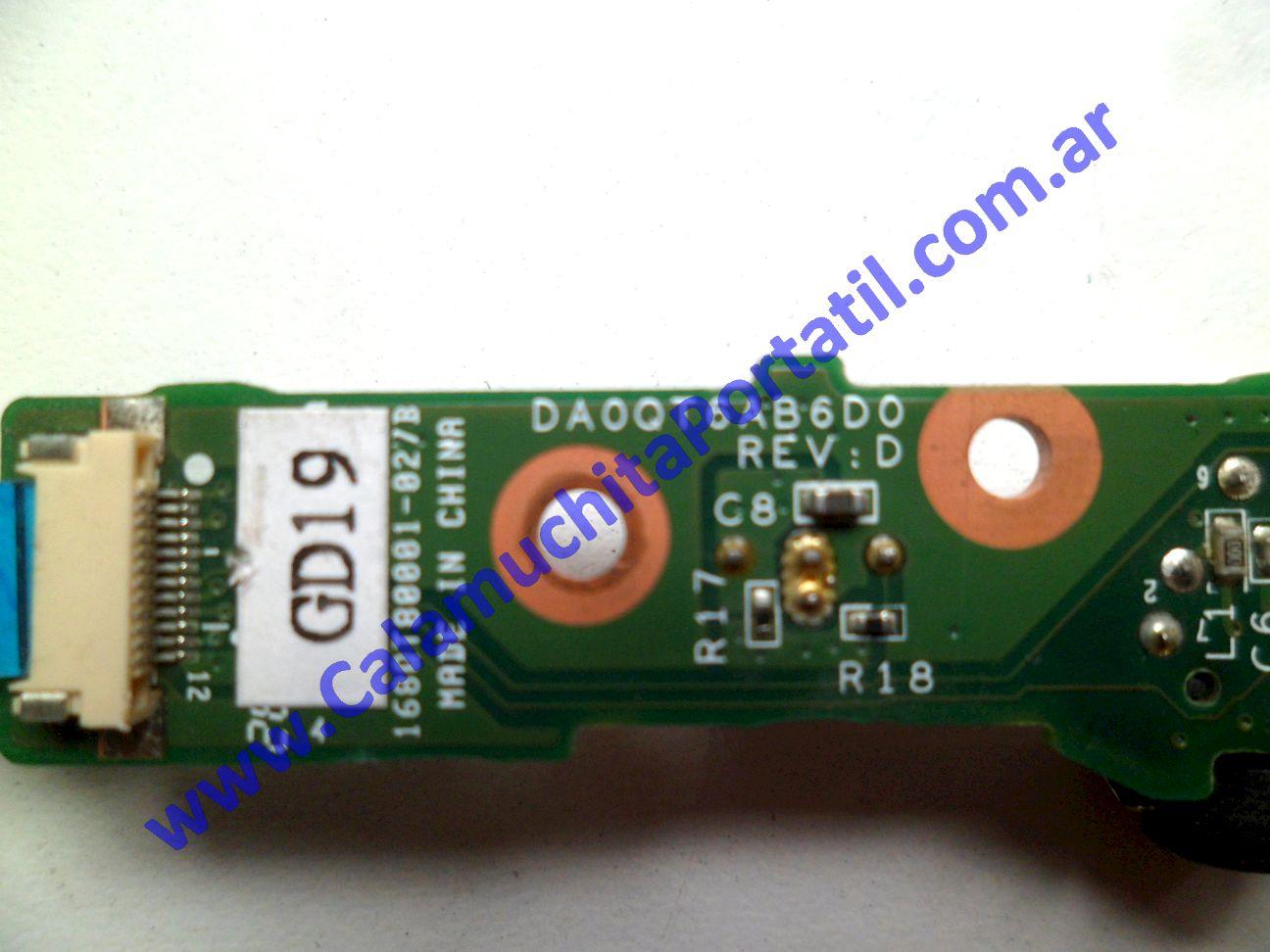 0536PSO Placa Sonido Hewlett Packard Pavillion dv5-1004nr / FE765UA#ABA