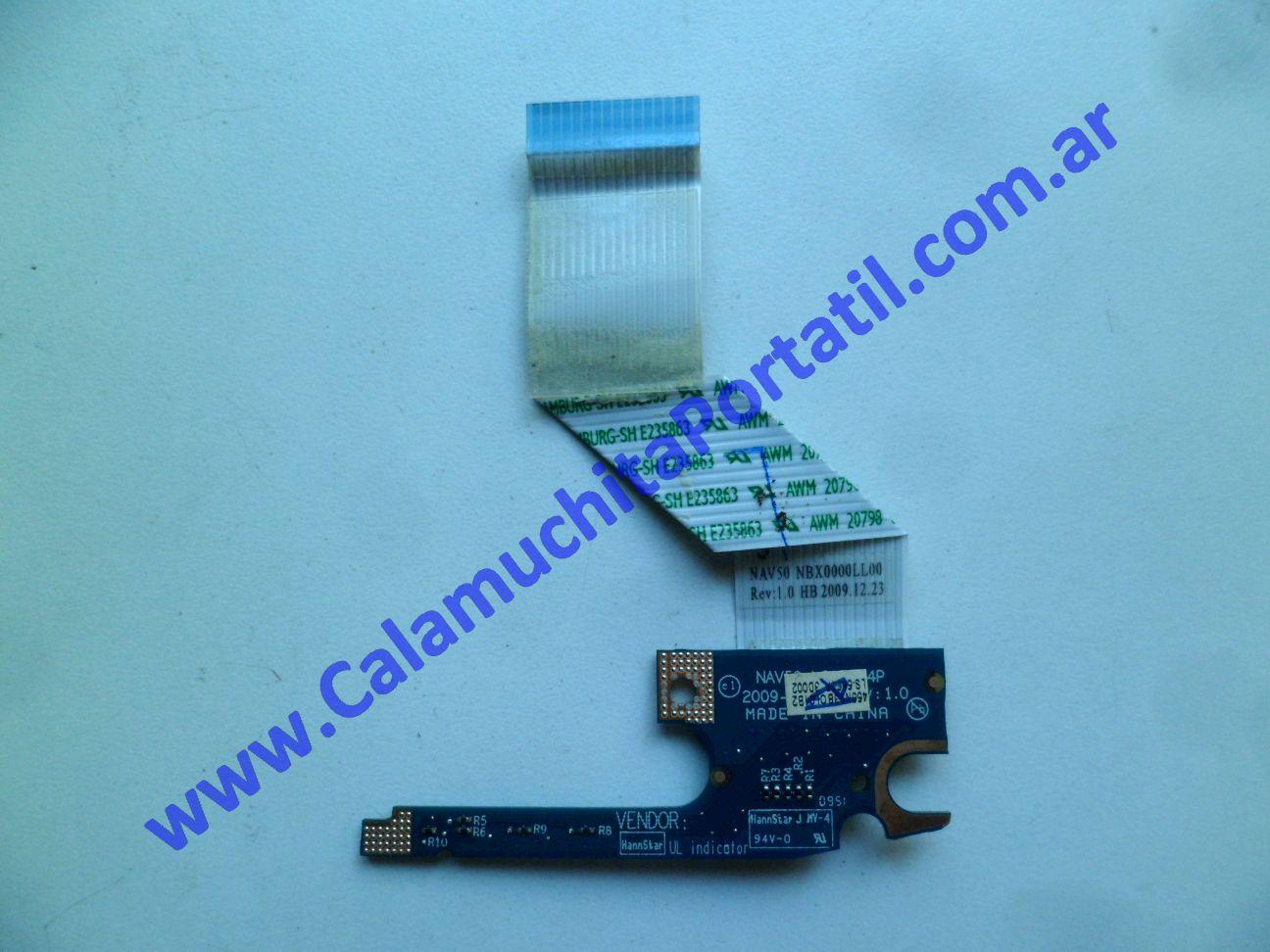 0537PLE Placa Leds Acer Aspire One 532h-2181 / NAV50