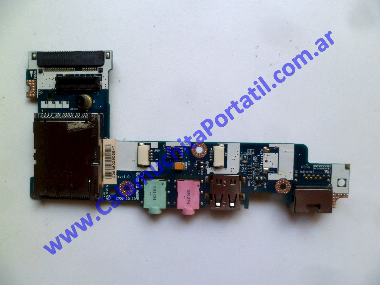 0537PUS Placa USB Acer Aspire One 532h-2181 / NAV50