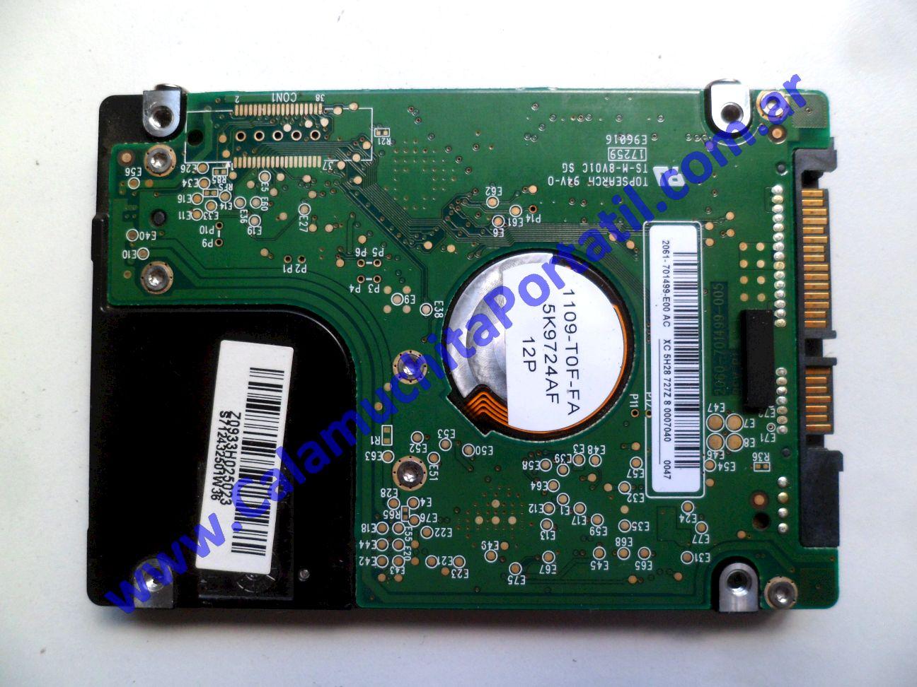 0538HDA Disco Rígido MSI X410-028ES / MS-1461