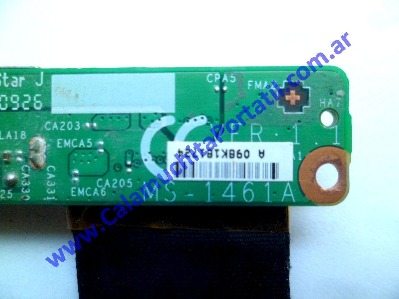 0538PEN Placa Encendido MSI X410-028ES / MS-1461