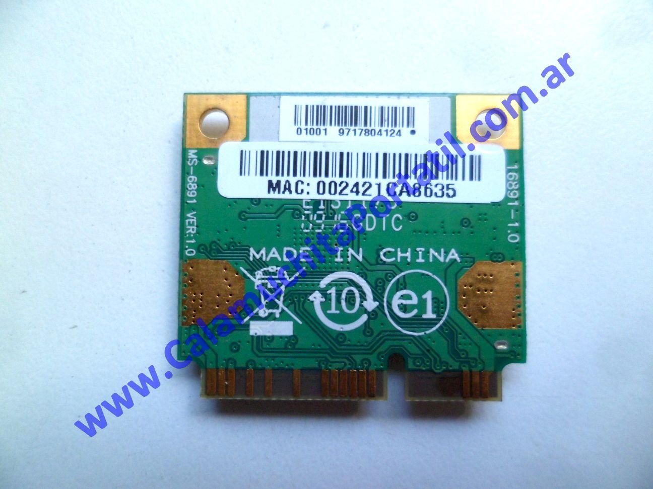 0538PWI Placa Wifi MSI X410-028ES / MS-1461