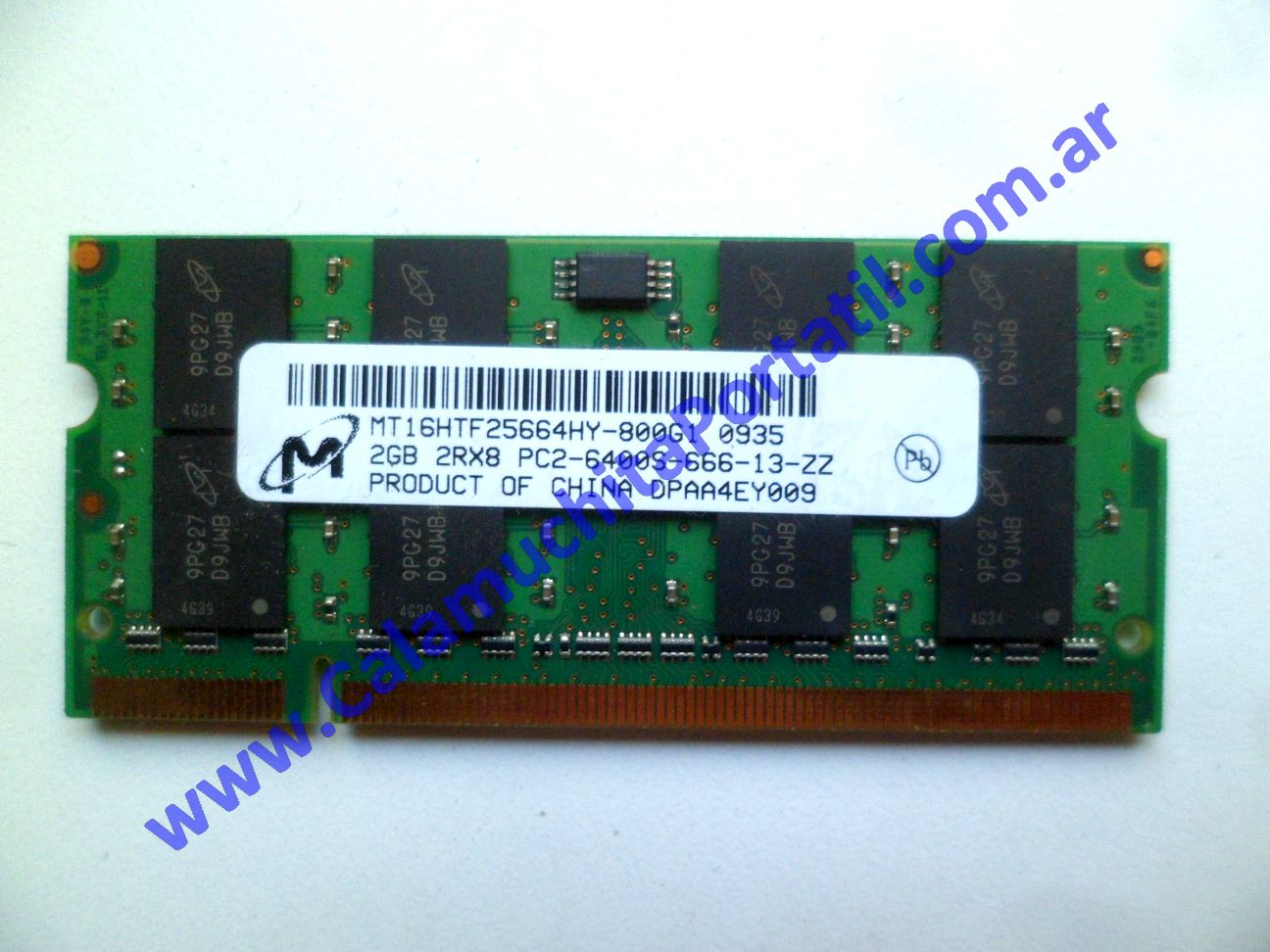 0539NMB Memoria Hewlett Packard Pavilion dv7-3079wm / VM241UA#ABA
